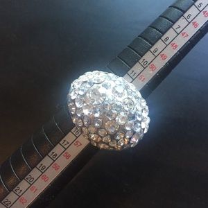 Crystal Cluster Bling Statement Ring Size 7